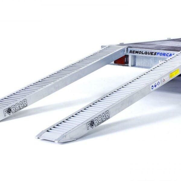 Kit Rampas Aluminio 3700Kg de 2,95x0,30m+Pies de apoyo