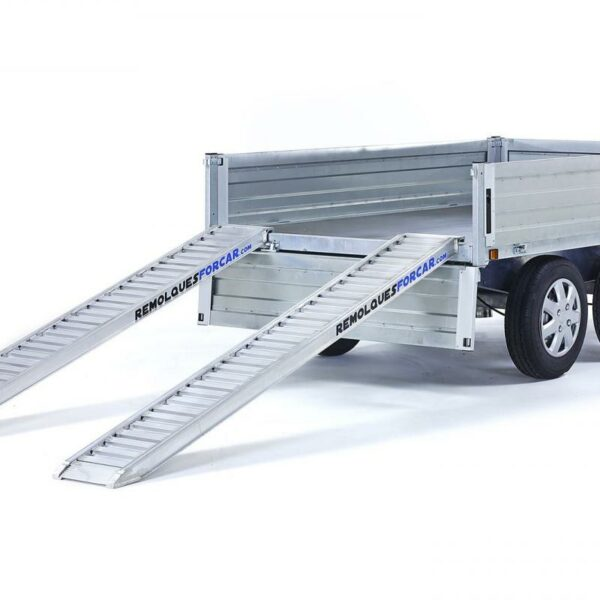 Juego 2 Rampas para Remolque 2.000kg. de 2,50 x 0,32m de aluminio