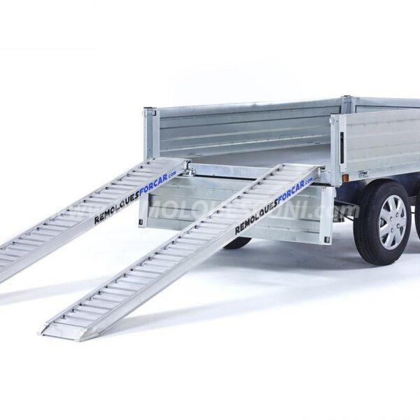 Juego 2 Rampas para Remolque 1.600Kg de 2,50 x 0,31m de aluminio