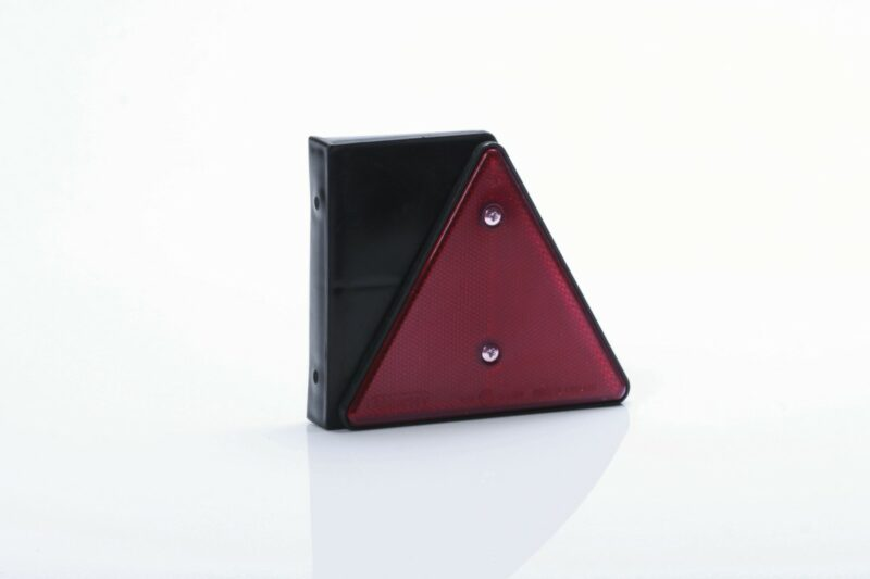 Reflectante triangular rojo con soporte 01563-01564