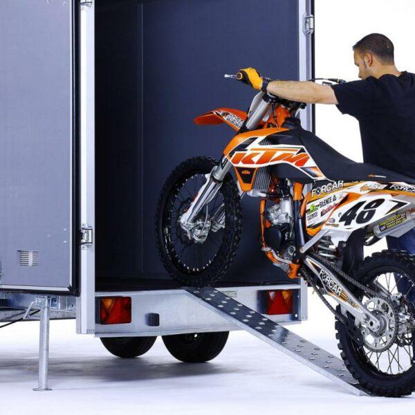 Rampa de acero 150x20cm. motos