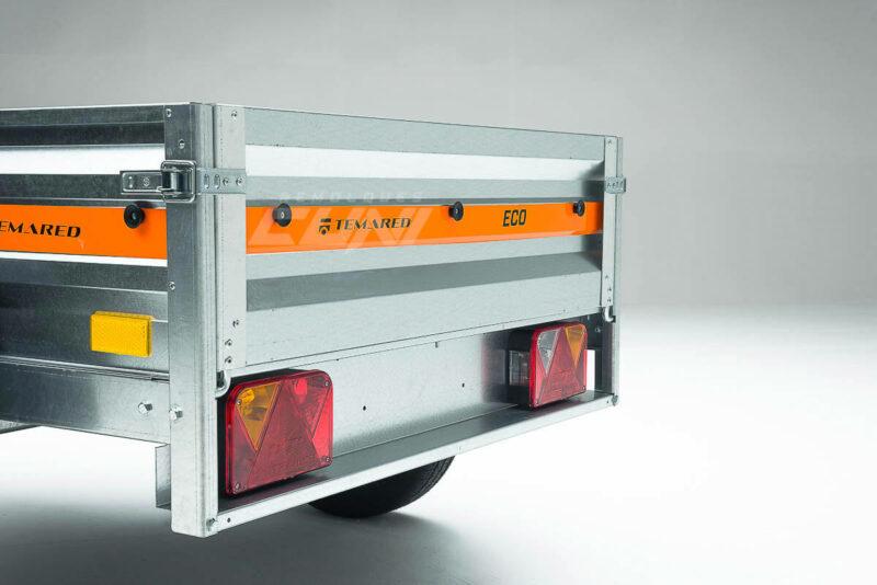 Remolque de carga ECONOMIC 200 con lona plana