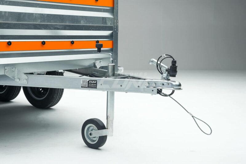 Remolque de carga ECONOMIC 260 con lona alta