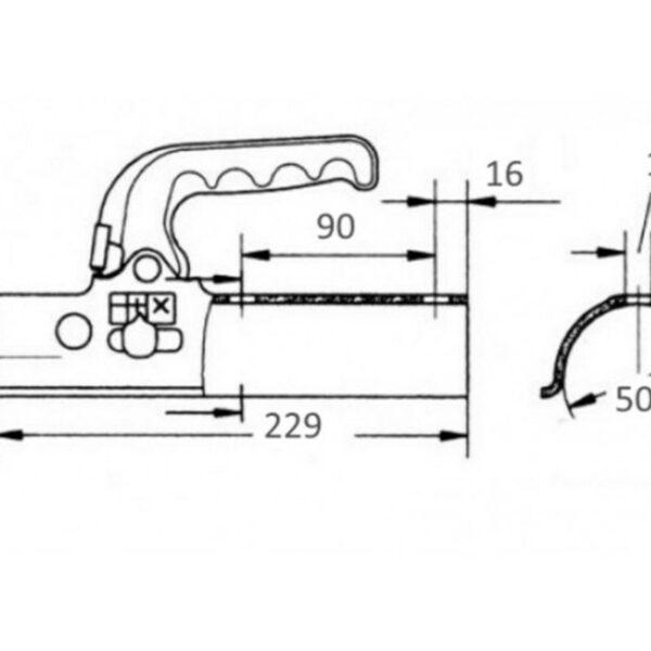 Cabezal Knott 60mm 1400Kg Redondo