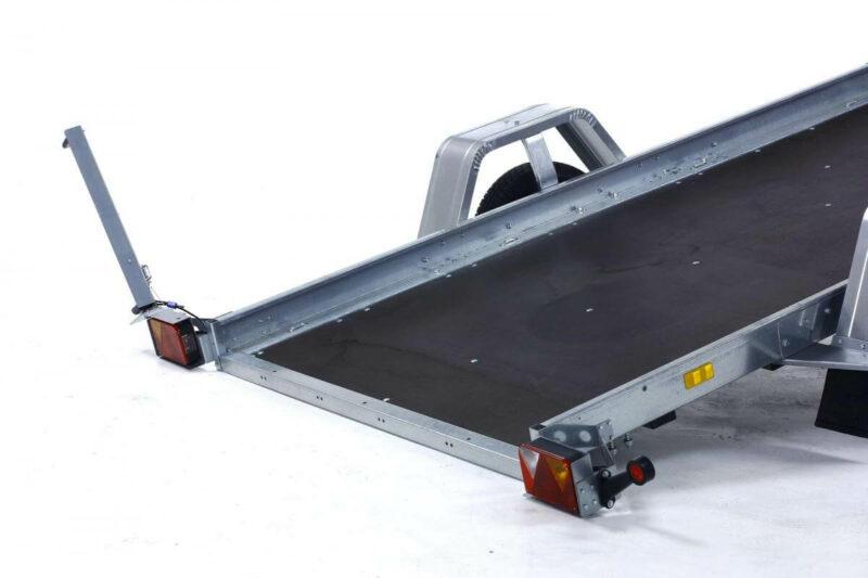 remolque plataforma basculante con freno 15