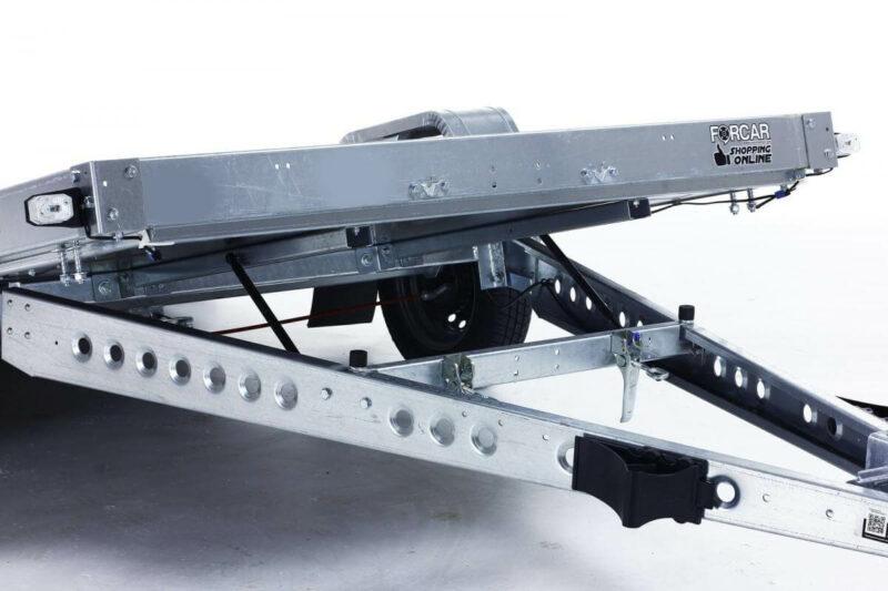remolque plataforma basculante con freno 9