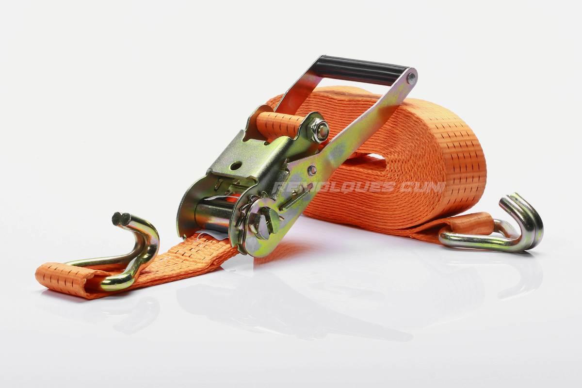 Cincha Trinquete 50MM 8M color Naranja