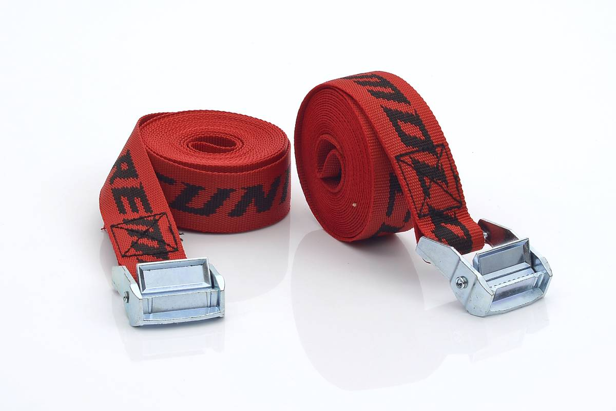 2 Correas Rojas para Motos Remolques Cuni